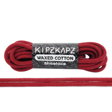 KIPZKAPZ WS25 Waxed Cotton Round Shoelace - Gym Red [3mm]