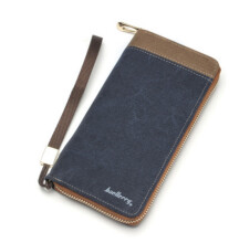 MMIOT New  Men's Practical Multi-functional Long Canvas Wallet Card Holders