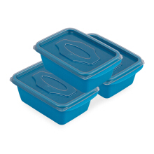 VICTORYHOME Food Box 500ml set of 3  - Blue