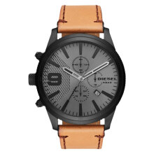 Diesel DZ4468 Rasp Men Grey Dial Brown Leather Strap [DZ4468]