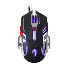 LUOM X56D 3200DPI Optical USB Wired Gaming Mouse 6 Buttons Computer Mice Black