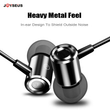 JOYSEUS Hi-Res Audio Wired Earphone Stereo Bass Sound Headset Metal Magneti In-Ear Earphone With Mic 3.5mm Jack Earbuds Earpiece