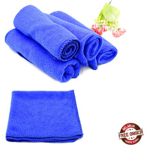 Farfi 5Pcs Blue Absorbent Wash Cloth Car Auto Care Microfiber Cleaning Towels as the pictures
