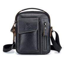[kingstore]Business Style Cow Leather Men Bag Casual Design Messenger Best Gift Black