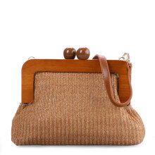 VOITTO Straw Clutch Y8012 - Brown