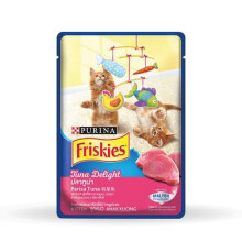 Friskies Kitten Tuna Delight Pouch Makanan Kucing - 80 gr