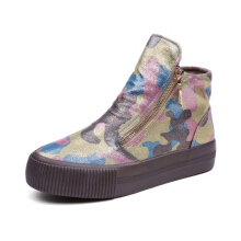 M.GENERAL Graffiti High Top Colorful Painting Style Zipper Shoes For Women #0  37