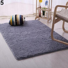 Farfi Plush Shaggy Carpet Room Area Rug Bedroom Slip Resistant Door Floor Mat
