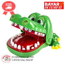 Tomindo Crocodile Dentist mainan gigi buaya - green