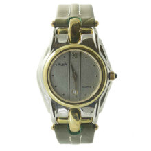 ALBA Jam Tangan Pria - Green Silver Gold - Leather Strap - AYC34B