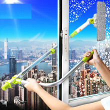 Jantens Telescopic High-rise Window Cleaning Glass Cleaner Brush For Washing Window Dust Brush green