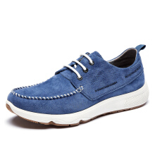 AOKANG 2018 New Arrival Men Shoes leather genuine casual shoes man fashion comfortable shoes blue