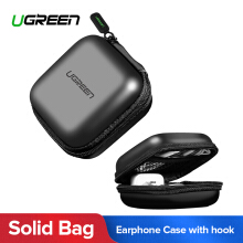 UGREEN Headphone Case Bag Portable Earphone Case Earbuds Hard Box (Black) Digital Storage Bag for Earphone