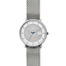 Skagen Hald - Silver Roun Dial 40mm - Stainless Steel - Silver - Jam Tangan Pria - SKW6278