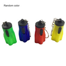 [LESHP] 1PC Plum Blossom Shape Hand Torch Keyring Mini LED Flashlight (Random Color) Random