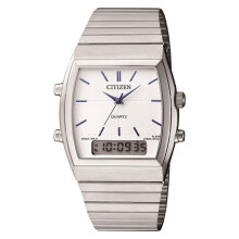 Citizen JM0540-51A Ladies White Digital Analog Dial Stainless Steel Strap [JM0540-51A]