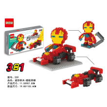 Dr Star Bricks 539 Ironman Superhero Red