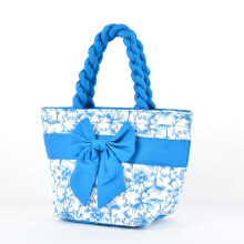 Pataya Women Hand bag With Flower Printing Blue
