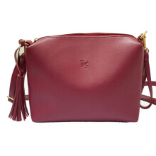 BEAUTY GUM Tas selempang kulit pemice (High Quality) - Red Maroon