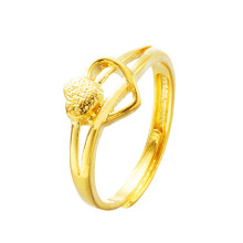 SiYing fashion ladies ring simple gold-plated love shape open female ring