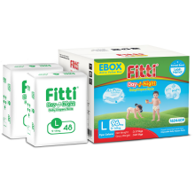 FITTI Popok Day & Night Ebox - L 48 (Isi 2 Bags)