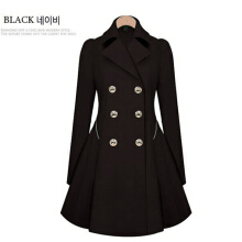 SiYing fashion European and American slim double-breasted women's windbreaker jacket