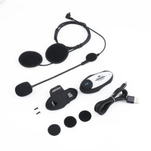 [COZIME] GXV Bluetooth Interphone MP3 FM Radio 720 P Video Recorder Camera Headset Black