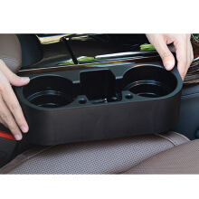Jantens Car Cup Holder Interior Car Organizer Portable Multifunction Drink Holder Box Car Styling Stand Black