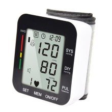 Accurate Measure Health Care Automatic Digital Wrist Band Blood-pressure Meter Black