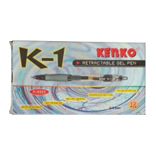 KENKO Gel Pen K-1 Black (1 Pack = 12 Pcs)