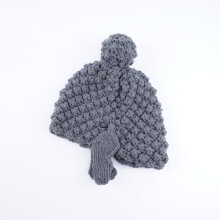 Buddha Head Wool Cap Hat Lovely Cap Warm Knitted Hat Beanie Women Hat gray