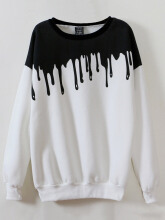 Zanzea Casual Long Sleeve O Neck Printed Sweatshirt For Women White One Size