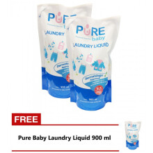 [free ongkir]Pure Baby Laundry Liquid Refill 900 ml - BUY 2 GET 1 FREE