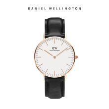 Daniel Wellington Classic Leather Watch Sheffield Eggshell White 36mm