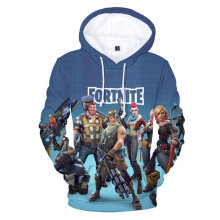 Fashion Personalized Hoodies 3D Digital Print Loose Hooded Pullover Shirt XS