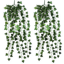 Farfi 2 Pcs Home Garden Wall Decoration Outdoor Artificial Hanging Vine Plant Leaves as the pictures