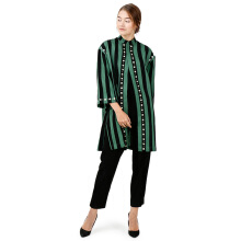 STUDIO 133 BIYAN Oversized Stripes Shirt - Green Black