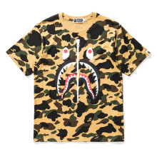 Bape Shark Camo Yellow Tee
