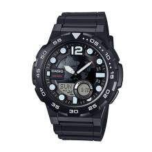 Casio Pria AEQ-100W-1AVDF-1 D42H315HTMPT Digital Black White
