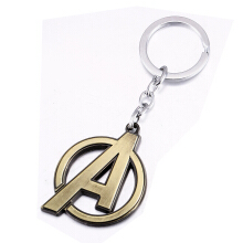 Jantens The Avengers Logo Style Metal Pendant Keychains Letter A Keychain