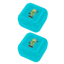 [free ongkir]Crocodile Creek Snack Keeper set of 2 -  Blue Robot
