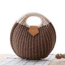 Zanzea Women Nest Tote Handbag Summer Beach Bags Woman Straw Bags Women's Handbag Rattan Bag Brown