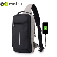 Mairu XDE Tas Selempang Sling Bag Anti Maling Cross Body With USB Charger Support For Iphone Ipad Mini Samsung Tab Tablet 10''