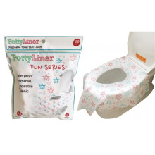 [free ongkir]PottyLiner Disposable Toilet Seat Covers Fun Series - 10 Pcs