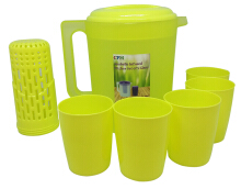 Annabelle Jug Infused Set Plus 5 Glass Hijau Lime