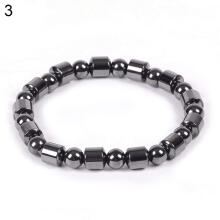 Farfi Biomagnetic Multi-shaped Black Hematite Stone Magnetic Bracelet Health Weight Loss