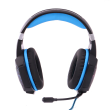 Vinmori 3.5mm Gaming Headphone Gaming Headset Casque Gamer Stereo Headphone With Microphone Mic Led light Game Headsets Blue