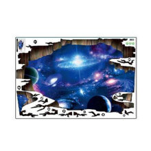 [kingstore] 3D PVC Wall Sticker Universe Galaxy Sky Painting Wallpaper Room Decoration Multicolor