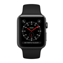 APPLE Watch Series 3 MQKV2 38mm GPS Only  Space Gray Aluminum Case with Black Sport Band