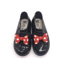 minihelisha Polka Dot Bow Waterproof Non-slip Jelly Kids Shoes